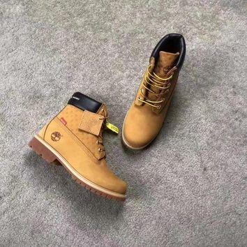 PEAPNT Timberland x supreme Brown Boots