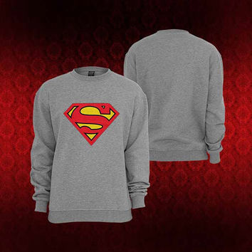 Superman sweater Sweatshirt Crewneck Men or Women Unisex Size