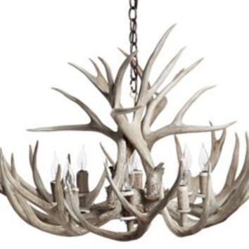 Shed Antler Chandelier, Natural, Ceiling Chandeliers