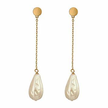 Kate Spade New York Gold Standard Pearl Linear Earrings