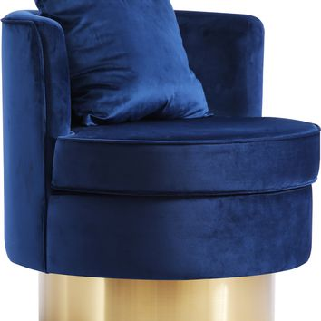 Kendra Navy Velvet Accent Chair
