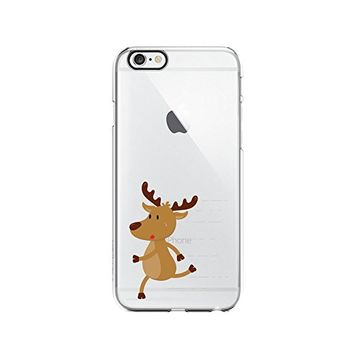 Cute Reindeer Merry Christmas Transparent Silicone Plastic Phone Case for iphone 7 _ LOKIshop (iphone 7)