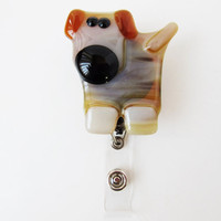 ID Badge Holder - ID Card Holder - Retractable ID Card - Wearable Dog - Dog Accessory - Gift Under 10 - Dog Lover Gift