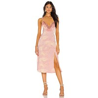 Free People Chasing Shadows Slip Dress Pink