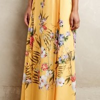 Gardenview Maxi Skirt by Ranna Gill Gold