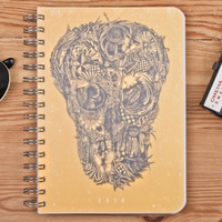 2014 Weekly Planner Calendar Diary Day For Him For Her A5 Sugar Skull This Day Planner - Great New Year Gift Idea
