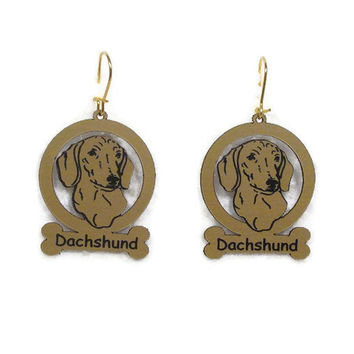 3036 Dachshund Smooth Head Earrings by gclasergraphics on Etsy