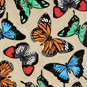 "Butterfly Dance Multi 5' x 7'6"" Indoor/Outdoor Rug"