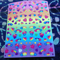 Lisa frank heart stickers