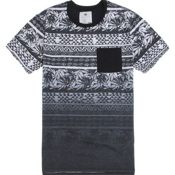 On The Byas Toms Dip Dye T-Shirt - Mens Tee - Black