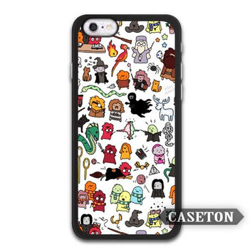 Kawaii Harry Potter Doodle Case For iPhone 7 6 6s Plus 5 5s SE 5c 4 4s and For iPod 5