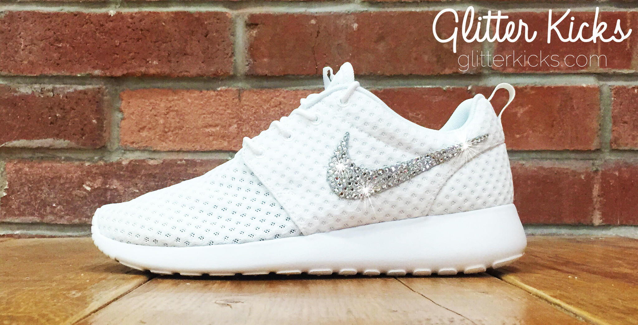 20370c8e3193 Women s Nike Roshe One Breeze Casual Shoes By Glitter Kicks - Customized  With Swarovski Elements Crystal