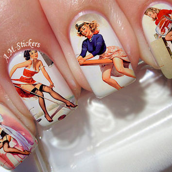 Pinup Women Nail Decals