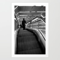 Escalators Art Print by Derek Delacroix