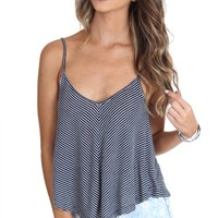 Lined Up Tank Navy