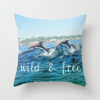 Wild & Free Throw Pillow by Beth - Paper Angels Photography | Society6