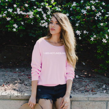 1-800-hotline bling top in light pink inspired by Drake