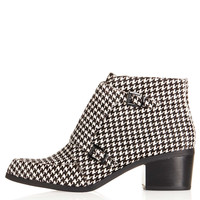 ACUTE Dogtooth Monk Boot - Boots - Shoes - Topshop USA