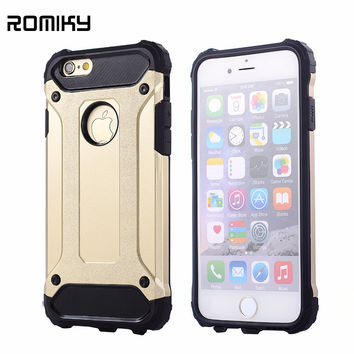 Romiky Hybrid hard tough dual layer armor case for apple iphone 7 plus 6s plus 6s 6 se 5s 5 shockproof TPU plastic covers cases