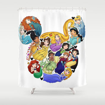 Princess Mickey Ears Shower Curtain by Katie Simpson