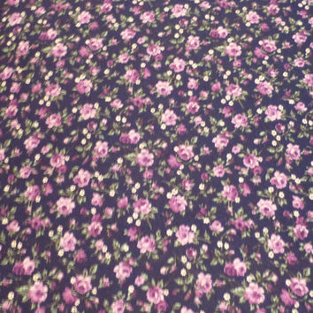 Purple Roses by VIP for Cranston Printworks, By the Yard, 44/45 inches Wide