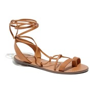 The Leather Lace Sandal - sandals - Women's SHOES & SANDALS - Madewell