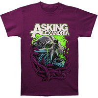 Asking Alexandria Men's  Night Slime T-shirt Purple Rockabilia