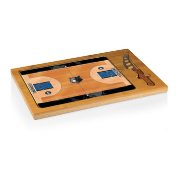 Minnesota Timberwolves - 'Icon' Glass Top Serving Tray & Knife Set by Picnic Time (Basketball Design)