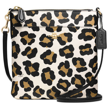 COACH NORTH/SOUTH SWINGPACK IN OCELOT PRINT LEATHER