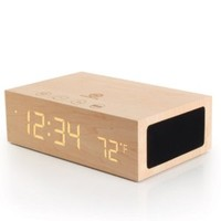 Wireless Bluetooth Stereo Speaker Clock Kit with Alarm Functions and LED Display by GOgroove - Works With Smartphones , Tablets , MP3 Players and More