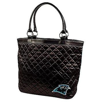 Carolina Panthers NFL Licensed Black Quilted Tote Bag