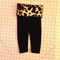Adorable baby girl cheetah yoga pants size 3-6 months and 9-12