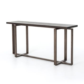 HAL CONSOLE TABLE- GREY OAK