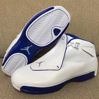 "Air Jordan 18 ""Sport Royal"" AJ18 Basketball Shoes Retro Sneakers - Best Deal Online"
