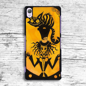 Wonderland Mad hatter and Cheshire cat Sony Xperia Case, iPhone 4s 5s 5c 6s Plus Cases, iPod Touch 4 5 6 case, samsung case, HTC case, LG case, Nexus case, iPad cases