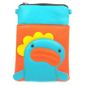 Dorky Duck Face Dinosaur Small Cross Body Shoulder Bag Purse