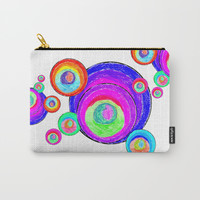 Colorful Secret Geometry | painting by Elisavet #society6 Carry-All Pouch by Azima