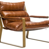 Skyline Leather Chair, Tan