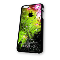 Apple Logo Galaxy Nebula Cracked Glasmb iPhone 6 Plus case