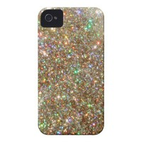 Bright Multicolor Glitter iPhone Case iPhone 4 Case from Zazzle.com