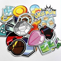 33pcs  Poke balls doodle Notebook skateboard trolley  backpack Tables toy book decal PVC waterproof Car sticker