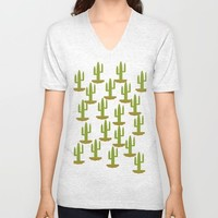 Cactus design, vector Unisex V-Neck by Claude Gariepy