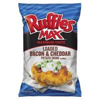 Ruffles Max Loaded Bacon & Cheddar Potato Skins Flavored Potato Chips 8.25 oz