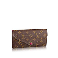 Louis Vuitto Monogram Canvas Fuchsia Josephine Wallet M60708