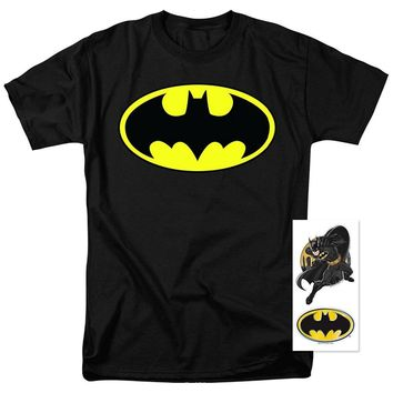 Summer 2017 New Batman Classic Logo T Shirt and Exclusive Stickers