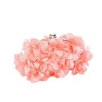 Silk Flower Diamond Women Evening Bags Bride Wedding Clutch Elegant Lady Handbag Solid Color Shoulder Bag
