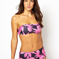 Motel Exclusive to ASOS Palm Leaf Bikini at ASOS