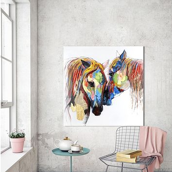 Wall Art Picture Animal Canvas Painting The Horse Lover For Living Room Home Decor No Frame Printed Painting