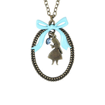 Disney Alice In Wonderland Silhouette Dangle Necklace