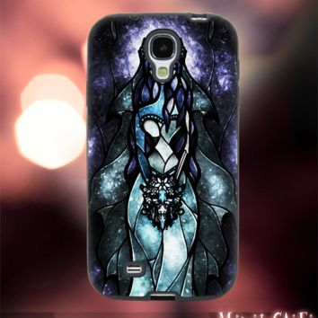 MC1002Y,7,Nightmare Before Christmas,jack,sally -Accessories case cellphone-Design for Samsung Galaxy S5- Black case - Material Soft Rubber